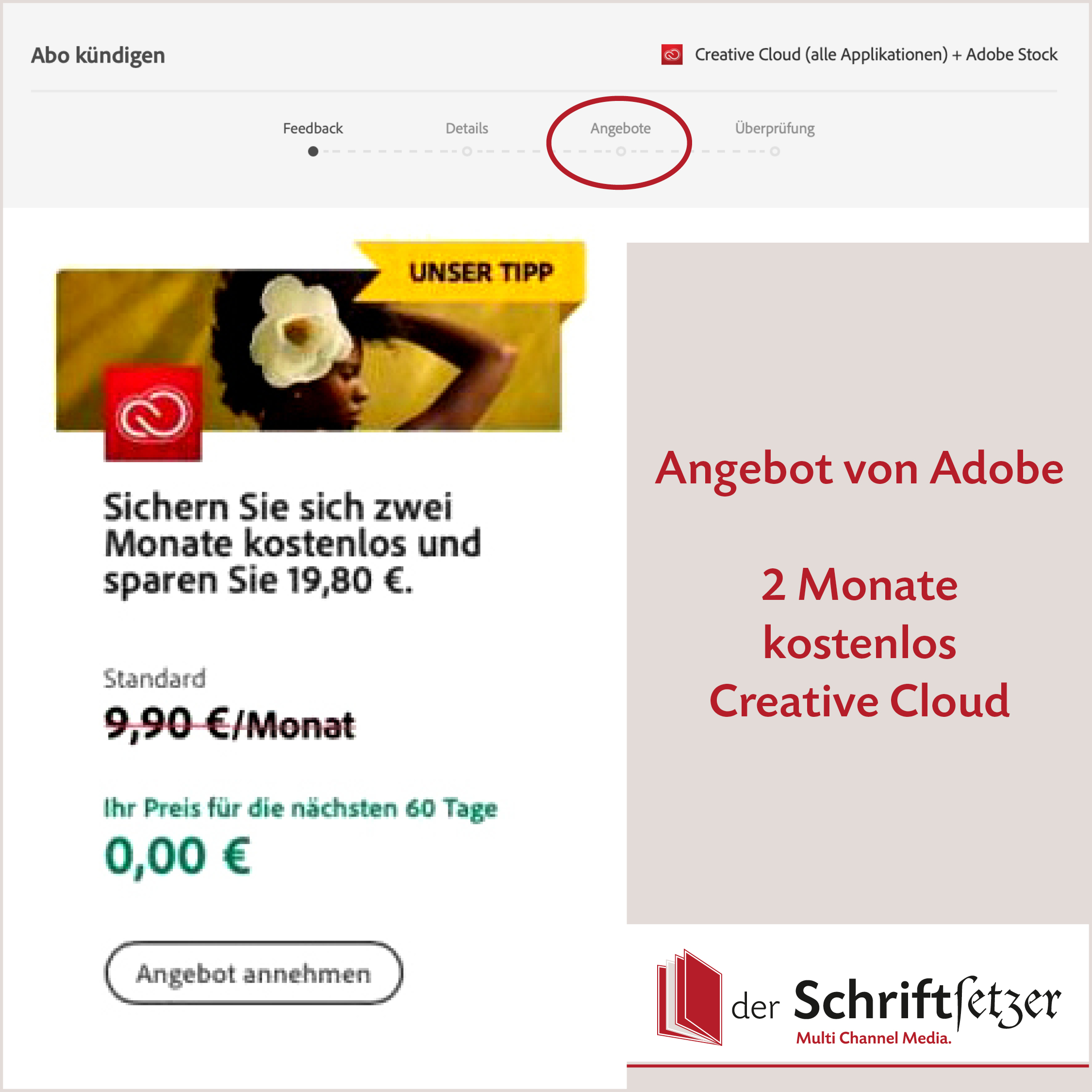 Adobe Creative Cloud Angebot